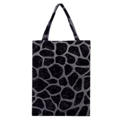 Skin1 Black Marble & Gray Leather (r) Classic Tote Bag