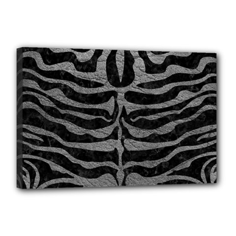 Skin2 Black Marble & Gray Leather Canvas 18  X 12