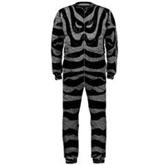 Skin2 Black Marble & Gray Leather Onepiece Jumpsuit (men)