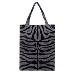 Skin2 Black Marble & Gray Leather (r) Classic Tote Bag