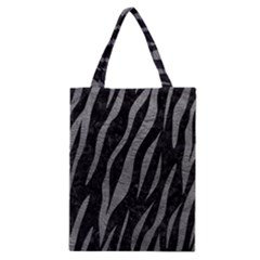 Skin3 Black Marble & Gray Leather Classic Tote Bag