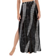 Skin3 Black Marble & Gray Leather Maxi Chiffon Tie Up Sarong
