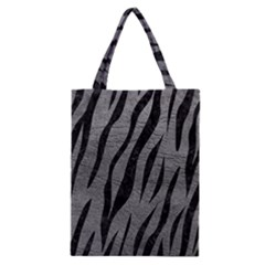 Skin3 Black Marble & Gray Leather (r) Classic Tote Bag