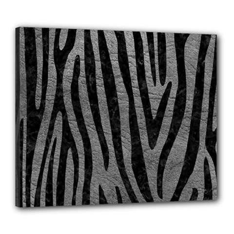 Skin4 Black Marble & Gray Leather Canvas 24  X 20