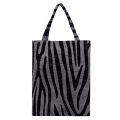 Skin4 Black Marble & Gray Leather Classic Tote Bag