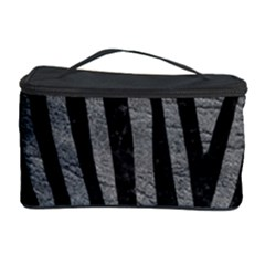 Skin4 Black Marble & Gray Leather Cosmetic Storage Case