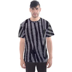 Skin4 Black Marble & Gray Leather (r) Men s Sports Mesh Tee
