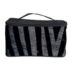 Skin4 Black Marble & Gray Leather (r) Cosmetic Storage Case