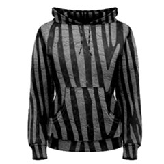 Skin4 Black Marble & Gray Leather (r) Women s Pullover Hoodie
