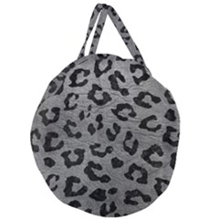 Skin5 Black Marble & Gray Leather Giant Round Zipper Tote