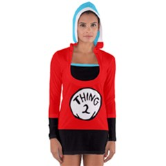 Thing 2 Long Sleeve Hooded T Shirt