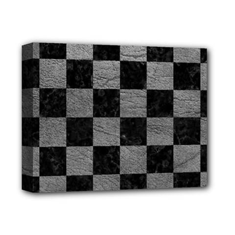 Square1 Black Marble & Gray Leather Deluxe Canvas 14  X 11