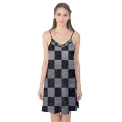 Square1 Black Marble & Gray Leather Camis Nightgown