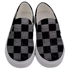 Square1 Black Marble & Gray Leather Men s Canvas Slip Ons