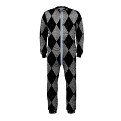 Square2 Black Marble & Gray Leather Onepiece Jumpsuit (kids)