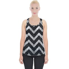 Chevron9 Black Marble & Gray Metal 2 Piece Up Tank Top
