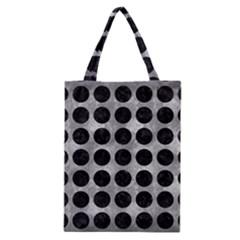 Circles1 Black Marble & Gray Metal 2 (r) Classic Tote Bag