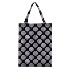 Circles2 Black Marble & Gray Metal 2 Classic Tote Bag