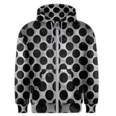 Circles2 Black Marble & Gray Metal 2 (r) Men s Zipper Hoodie