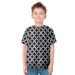 Circles3 Black Marble & Gray Metal 2 Kids  Cotton Tee