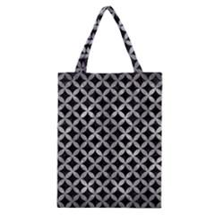 Circles3 Black Marble & Gray Metal 2 Classic Tote Bag