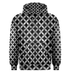 Circles3 Black Marble & Gray Metal 2 Men s Pullover Hoodie