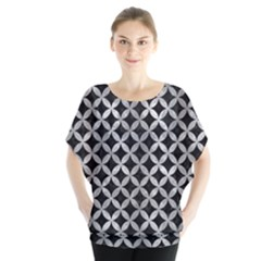 Circles3 Black Marble & Gray Metal 2 Blouse