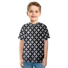 Circles3 Black Marble & Gray Metal 2 (r) Kids  Sport Mesh Tee