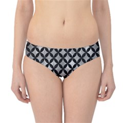 Circles3 Black Marble & Gray Metal 2 (r) Hipster Bikini Bottoms