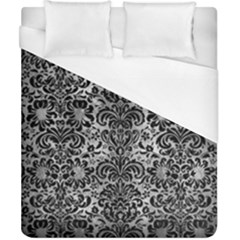 Damask2 Black Marble & Gray Metal 2 (r) Duvet Cover (california King Size)
