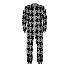 Houndstooth1 Black Marble & Gray Metal 2 Onepiece Jumpsuit (kids)