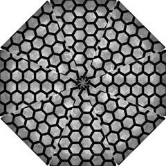 Hexagon2 Black Marble & Gray Metal 2 (r) Hook Handle Umbrellas (small)