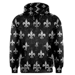 Royal1 Black Marble & Gray Metal 2 (r) Men s Pullover Hoodie