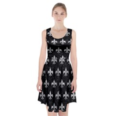 Royal1 Black Marble & Gray Metal 2 (r) Racerback Midi Dress