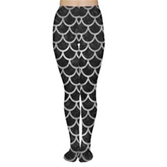 Scales1 Black Marble & Gray Metal 2 Women s Tights