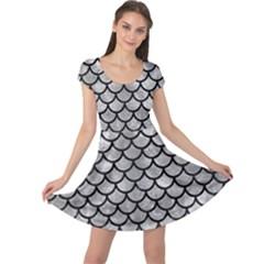 Scales1 Black Marble & Gray Metal 2 (r) Cap Sleeve Dress