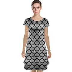 Scales1 Black Marble & Gray Metal 2 (r) Cap Sleeve Nightdress