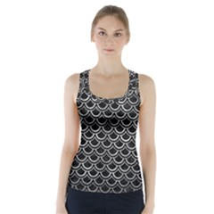 Scales2 Black Marble & Gray Metal 2 Racer Back Sports Top