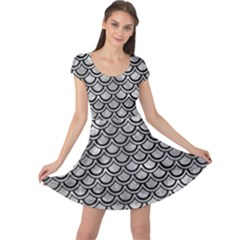 Scales2 Black Marble & Gray Metal 2 (r) Cap Sleeve Dress