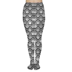 Scales2 Black Marble & Gray Metal 2 (r) Women s Tights