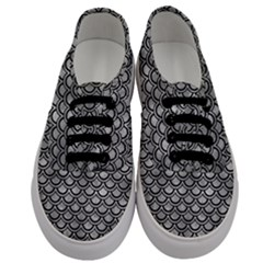 Scales2 Black Marble & Gray Metal 2 (r) Men s Classic Low Top Sneakers