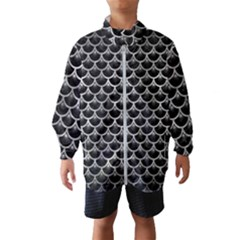 Scales3 Black Marble & Gray Metal 2 Wind Breaker (kids)