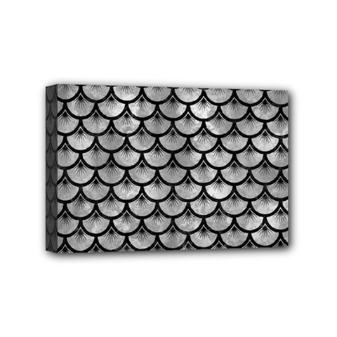 Scales3 Black Marble & Gray Metal 2 (r) Mini Canvas 6  X 4