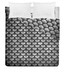 Scales3 Black Marble & Gray Metal 2 (r) Duvet Cover Double Side (queen Size)