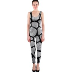 Skin1 Black Marble & Gray Metal 2 Onepiece Catsuit