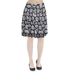 Skin1 Black Marble & Gray Metal 2 Pleated Skirt