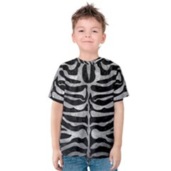 Skin2 Black Marble & Gray Metal 2 Kids  Cotton Tee