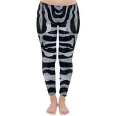 Skin2 Black Marble & Gray Metal 2 Classic Winter Leggings