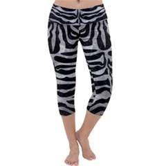 Skin2 Black Marble & Gray Metal 2 Capri Yoga Leggings