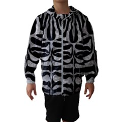 Skin2 Black Marble & Gray Metal 2 Hooded Wind Breaker (kids)